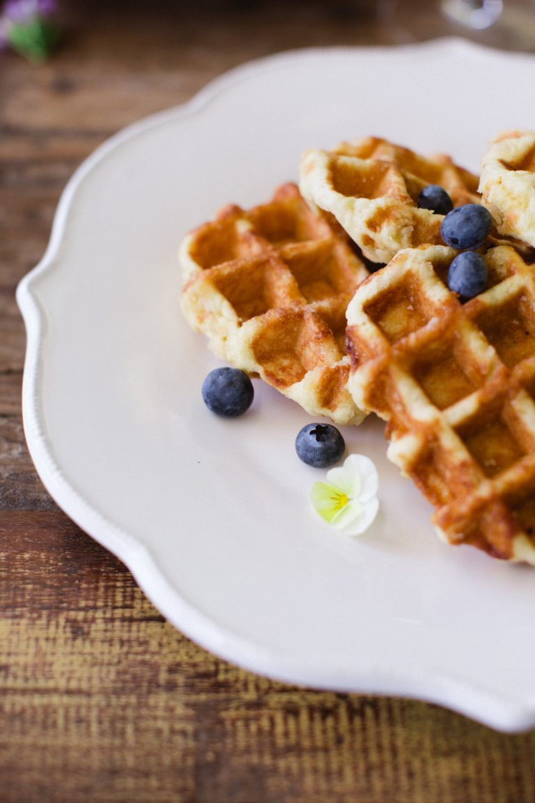 dairy-free gluten-free pancakes or waffles. Medical Medium recipe. Photo by Judith Rae.