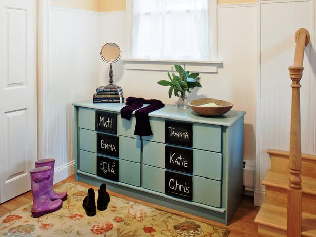 Friday Find:  Create Mudroom Storage with Repurposed Furniture