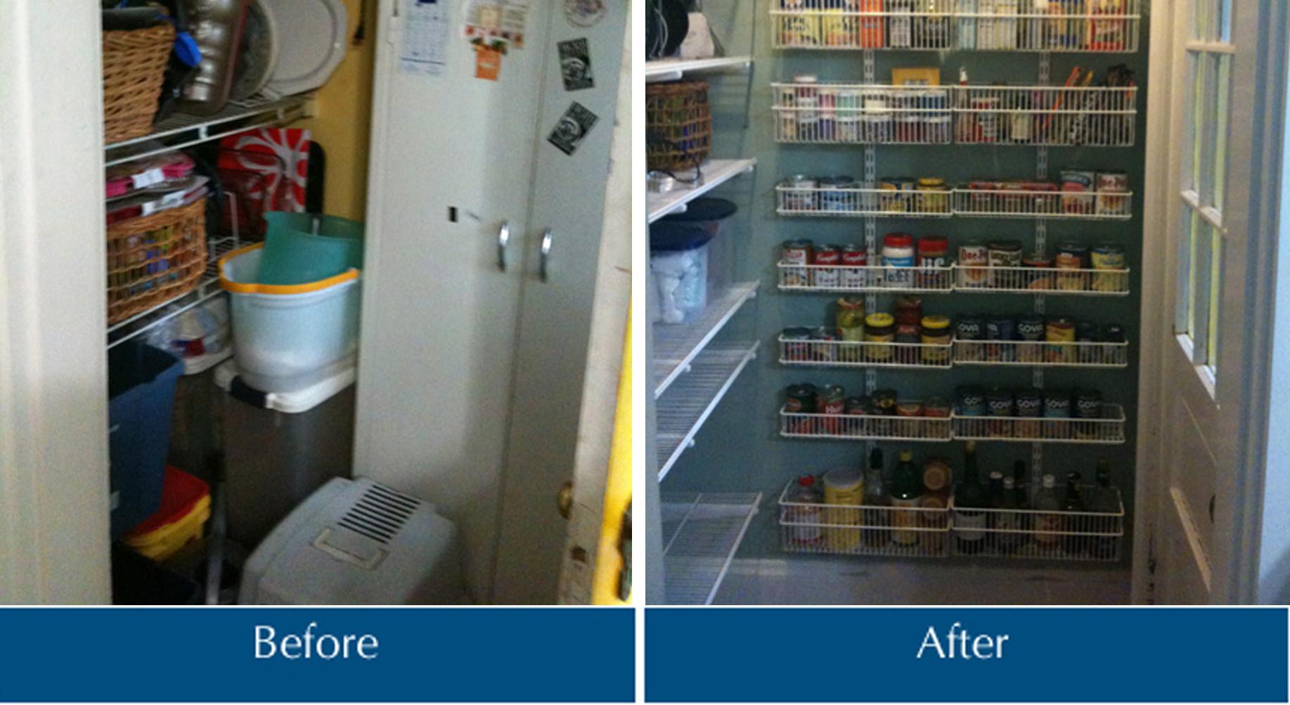 Kitchen Pantry Organizing Makeover