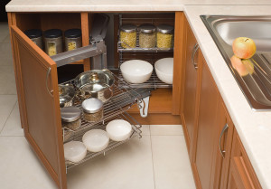 organizing akward spaces in your kitchen - organizing boston