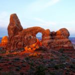 Sunrise Spills Over the Arch, Arches National Park, UT