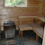 Cedar Sauna in basement