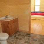 Bath vanity, stone floor