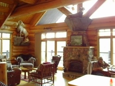 Great room hand scribed Cedar log home