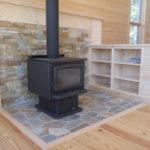 pine cabinet room devider woodstove