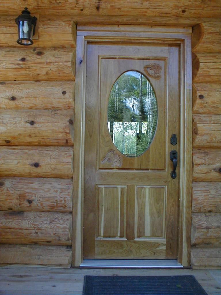 Custom Cherry entry door