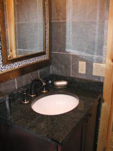 Bathroom granite vanity top