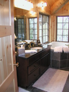 Loft master bath, granite, whirlpool tub