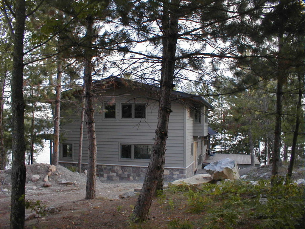gray stained cedar siding