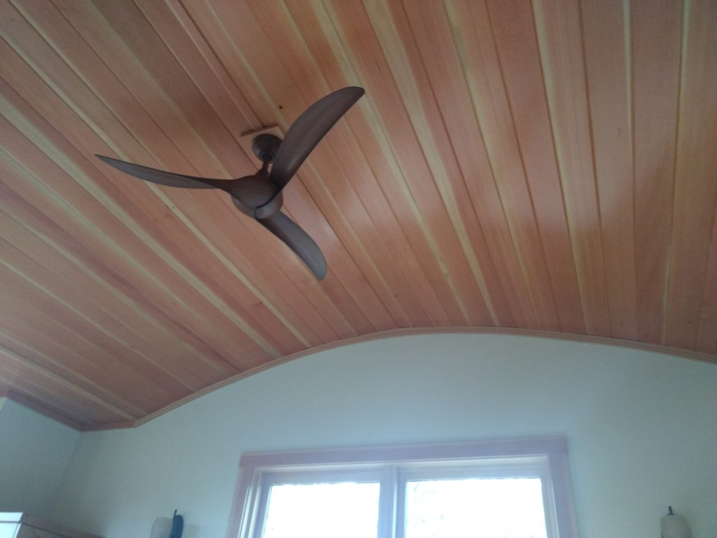 Douglas fir curved ceiling