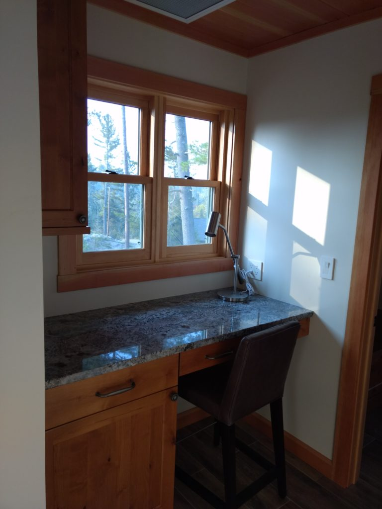 Hallway desk nook granite