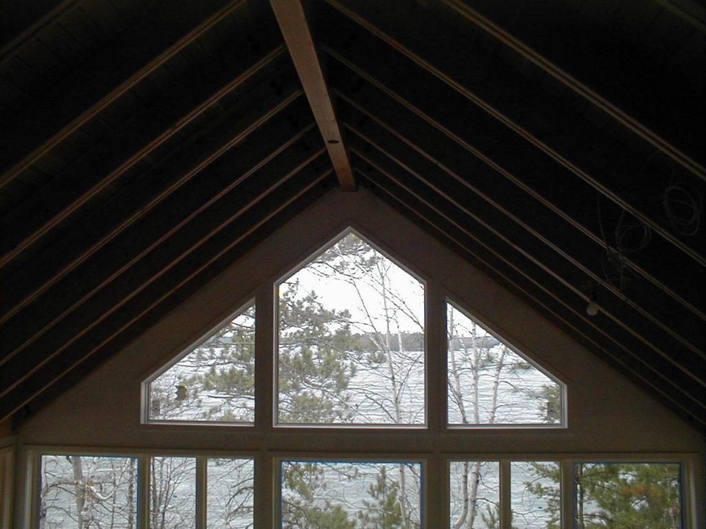 View through the lake wall windows