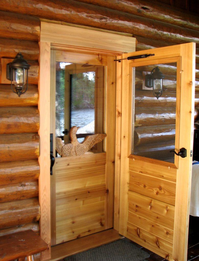 Cedar loon and screen door