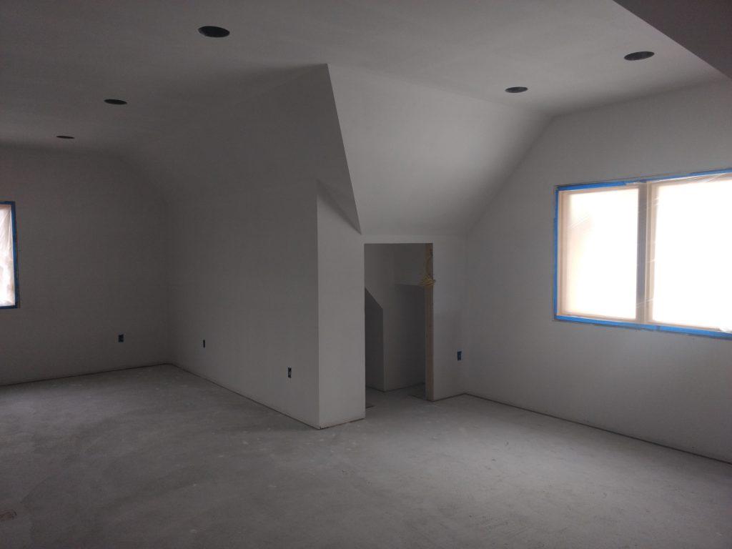 Bonus room drywall work