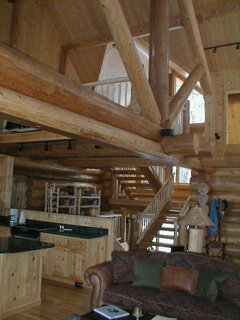 Stairwat to loft and windows