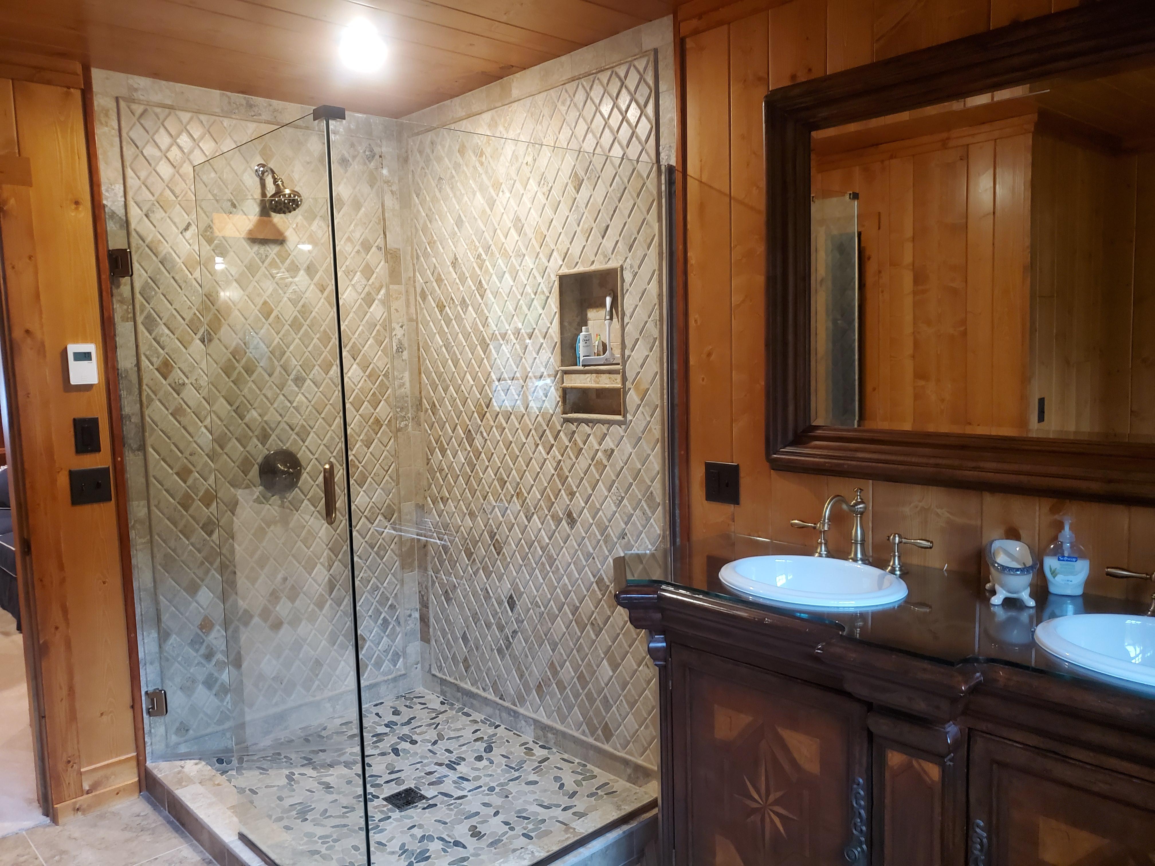Tiled shower built for real