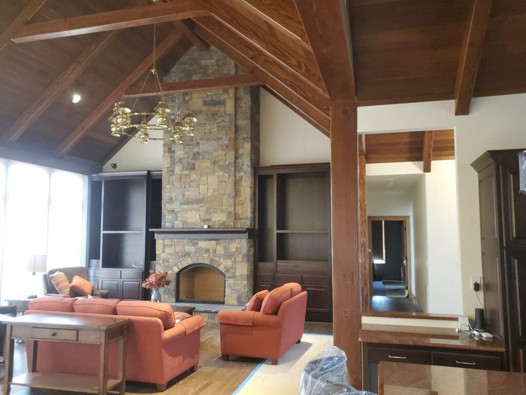 Great room fireplace, Custom home by Huisman Concepts