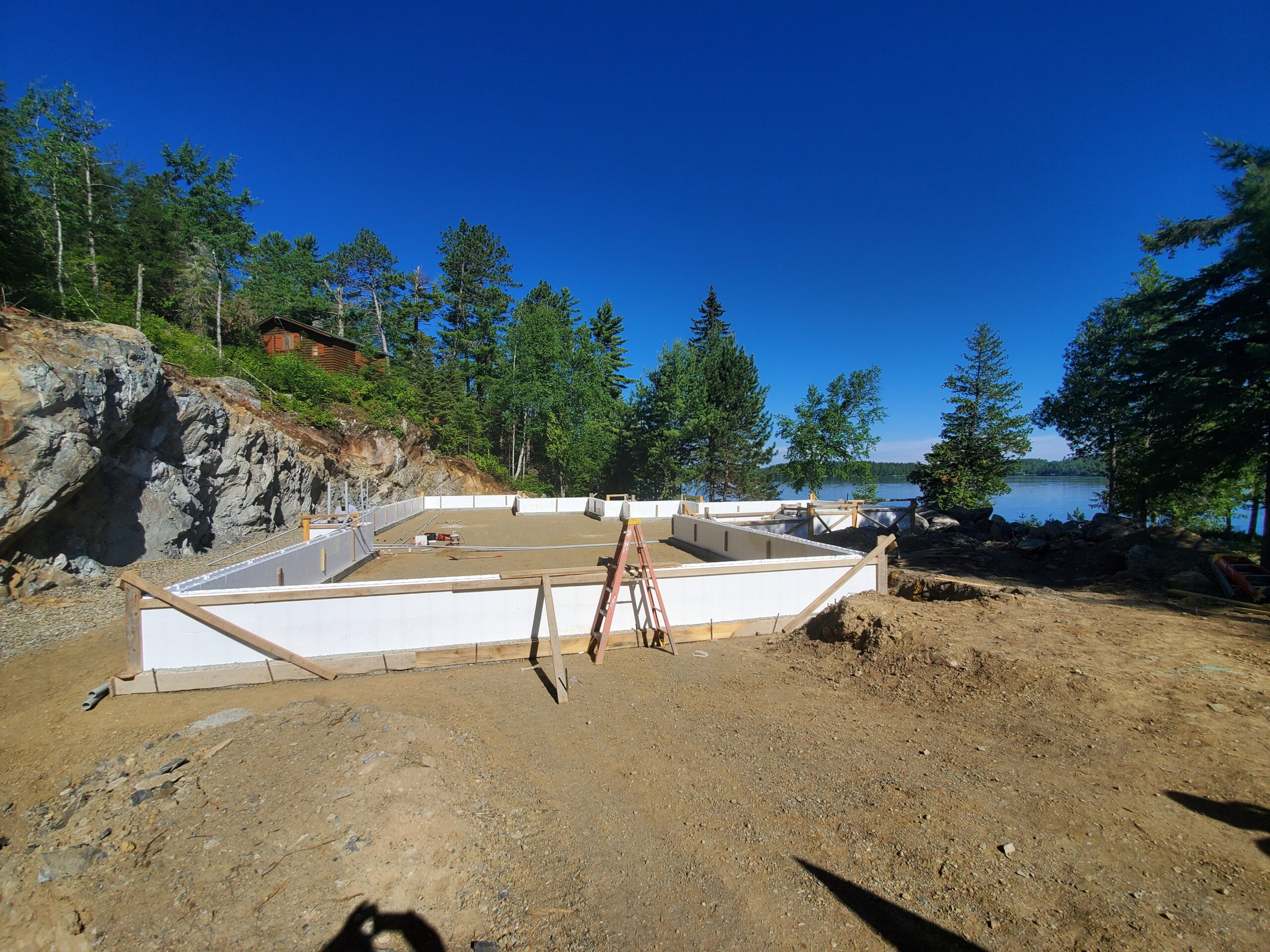 ICF Forming, custom lake home by Huisman Concepts