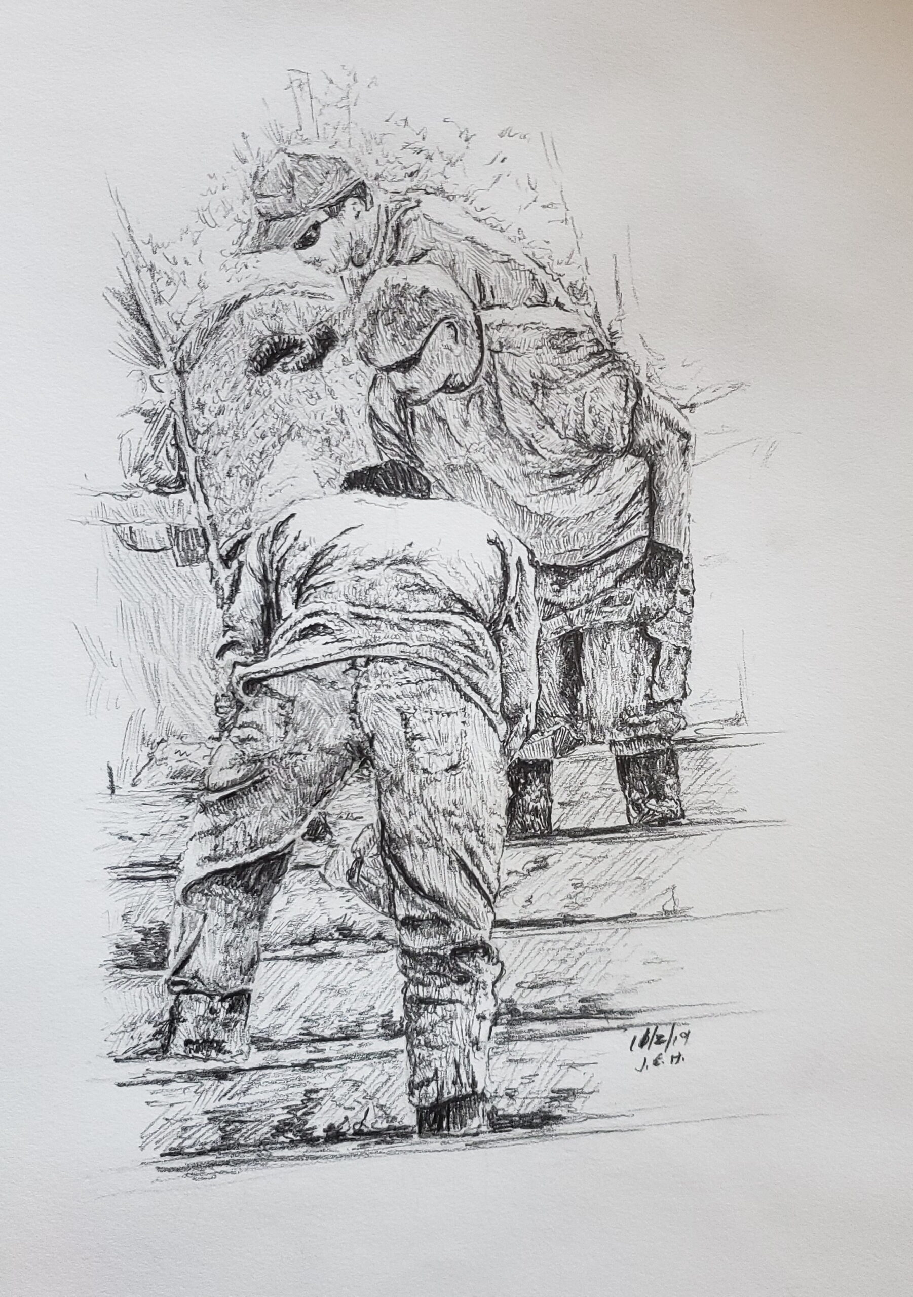 Pencil sketch by John Huisman
