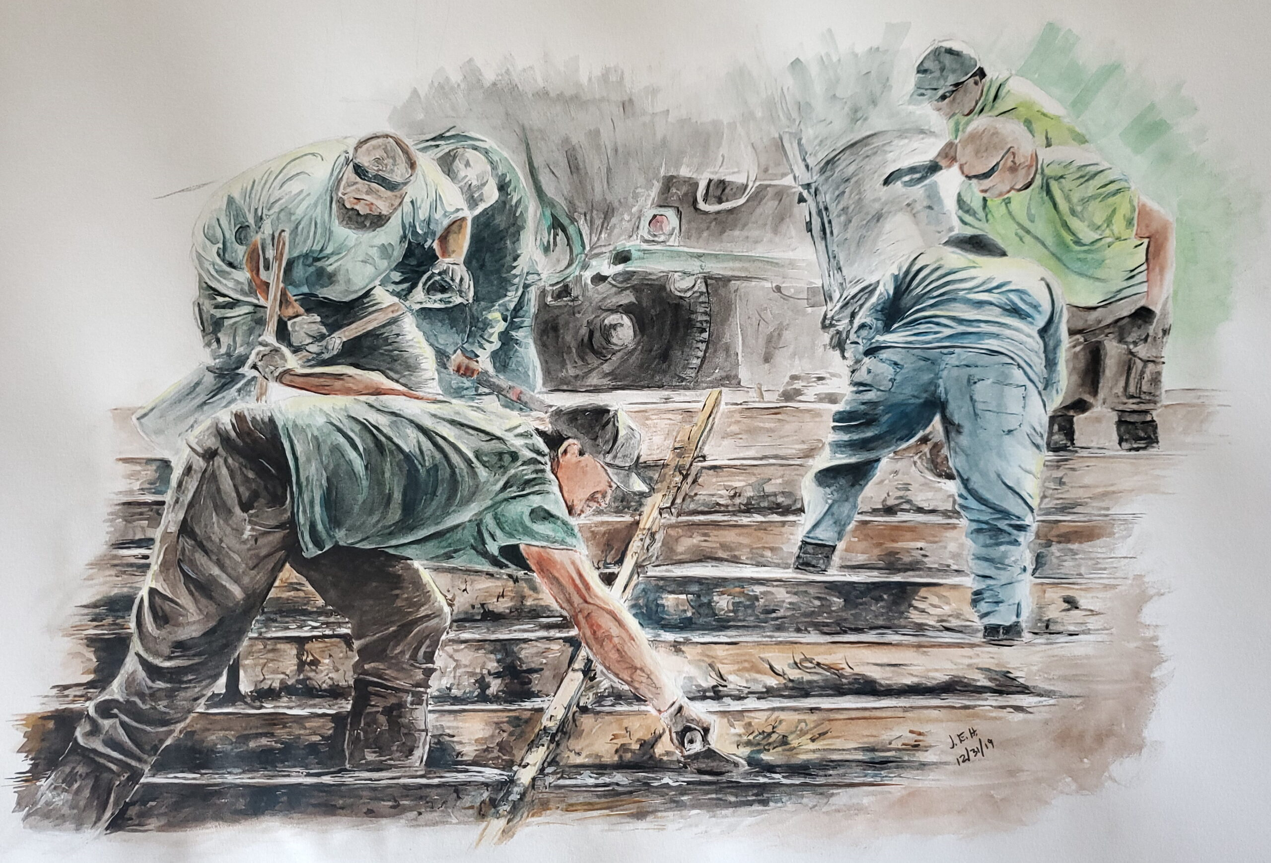 Water color sketch by John Huisman