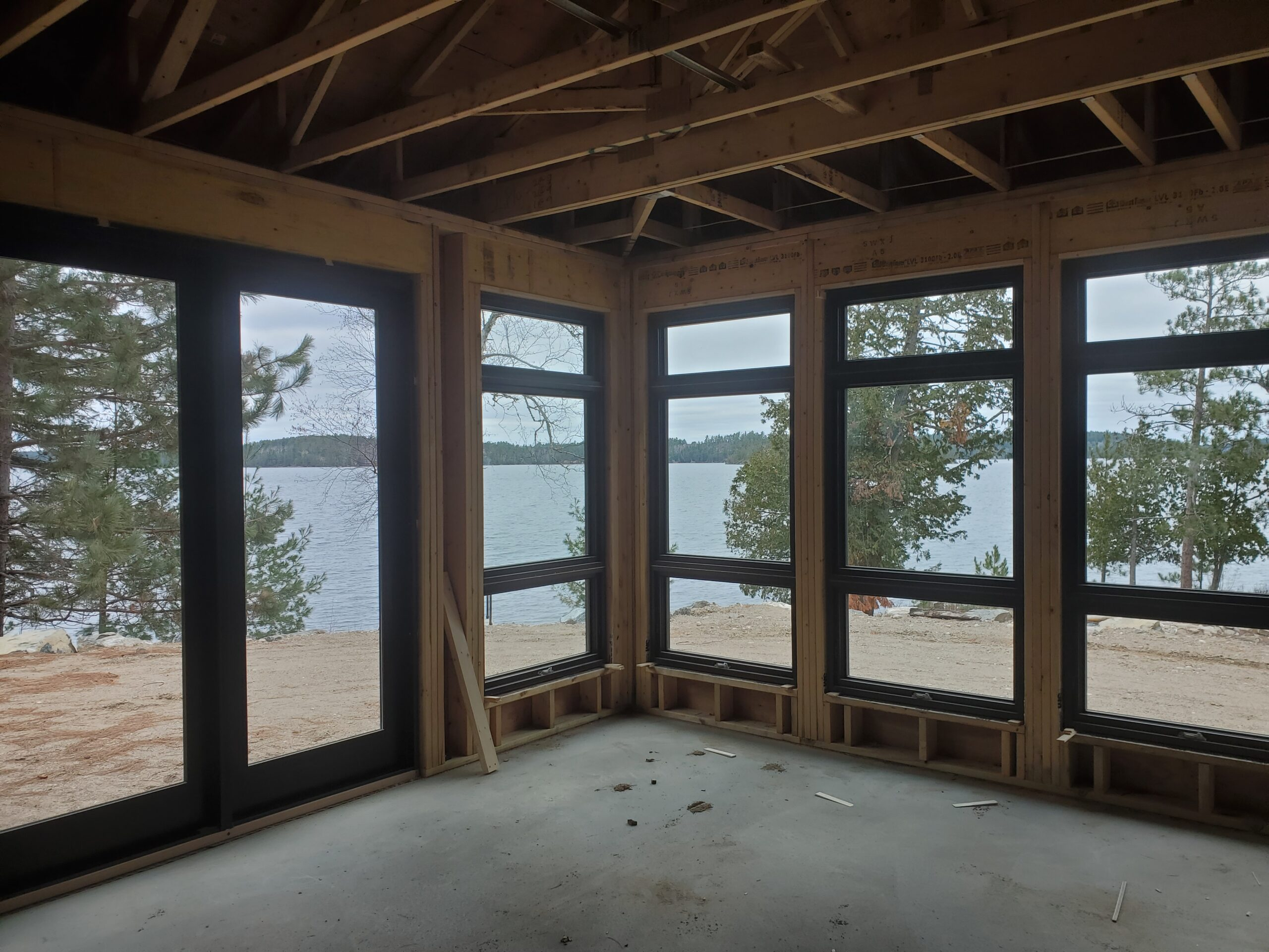 Custom Home by Huisman Concepts, Marvin windows looking out to the lake