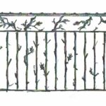 Drawing for custom iron railing by John