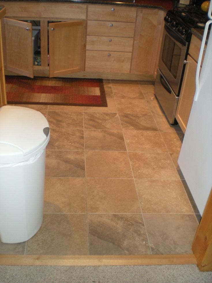 new Kitchen tile floor