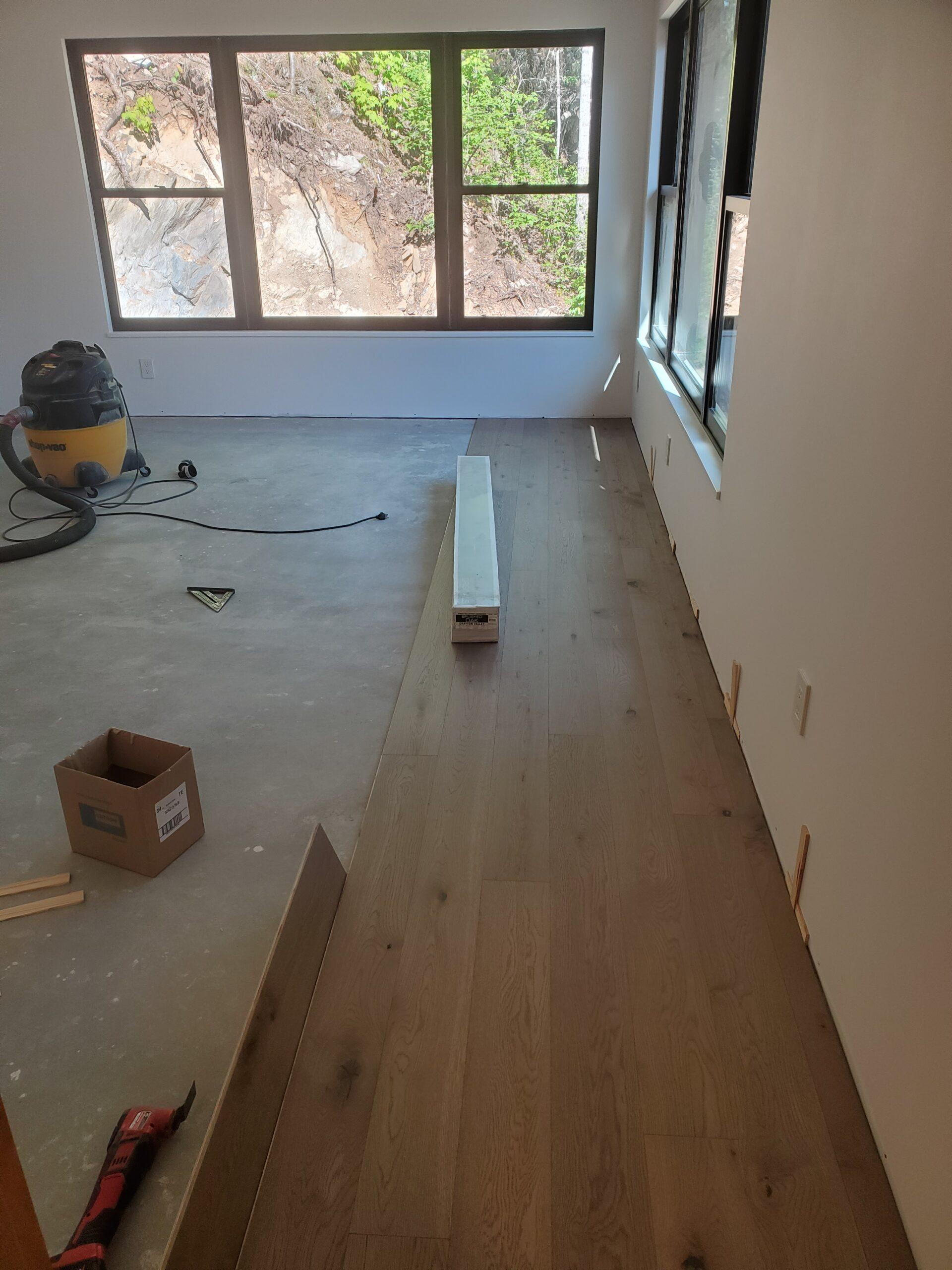 Hardwood Flooring in progress