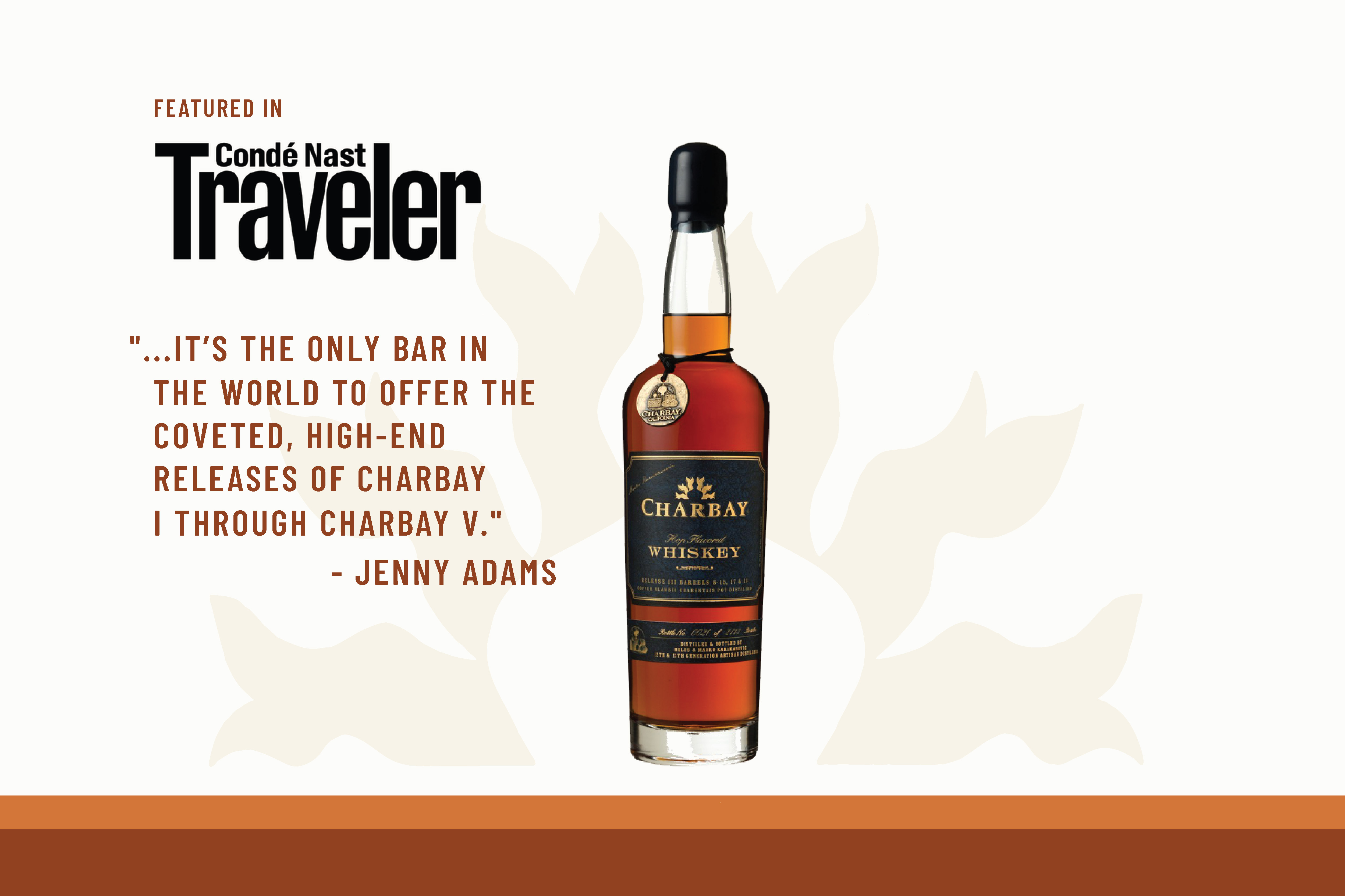 Charbay Conde Nast Traveler Article Pilsner Whiskey