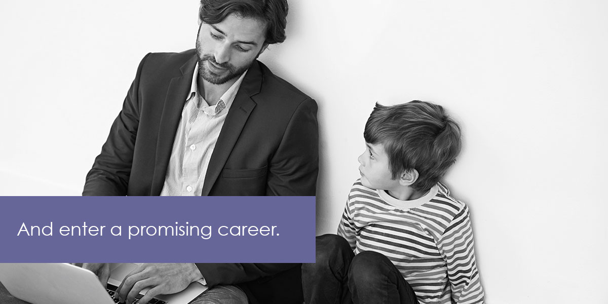 We imagine all young adults entering a promising career.