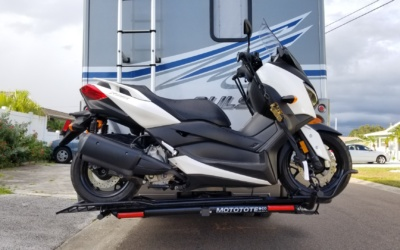 Why We Chose a Motote Hitch Mounted RV Motorcycle Carrier
