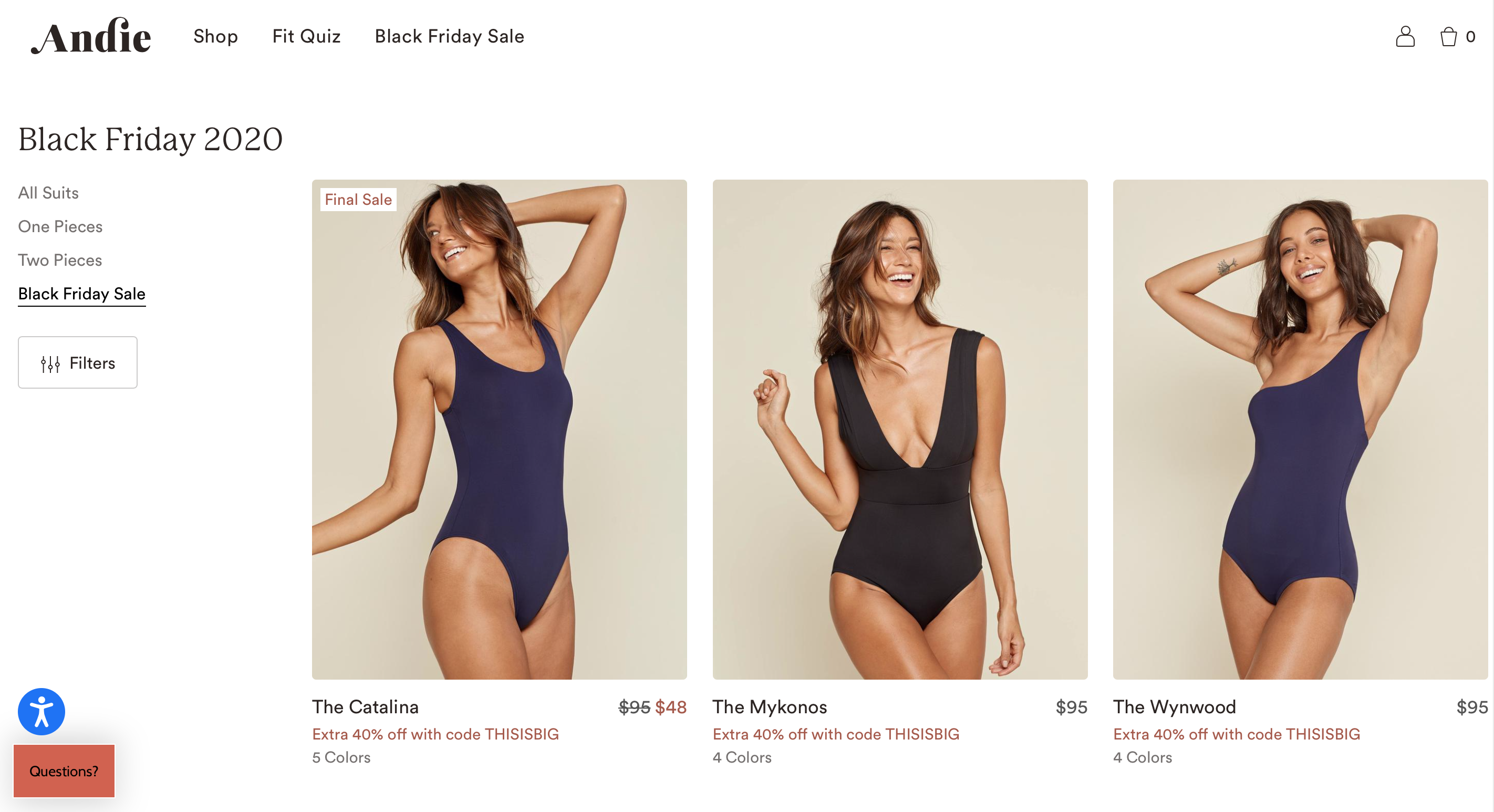 Andie Swim Black Friday Sale