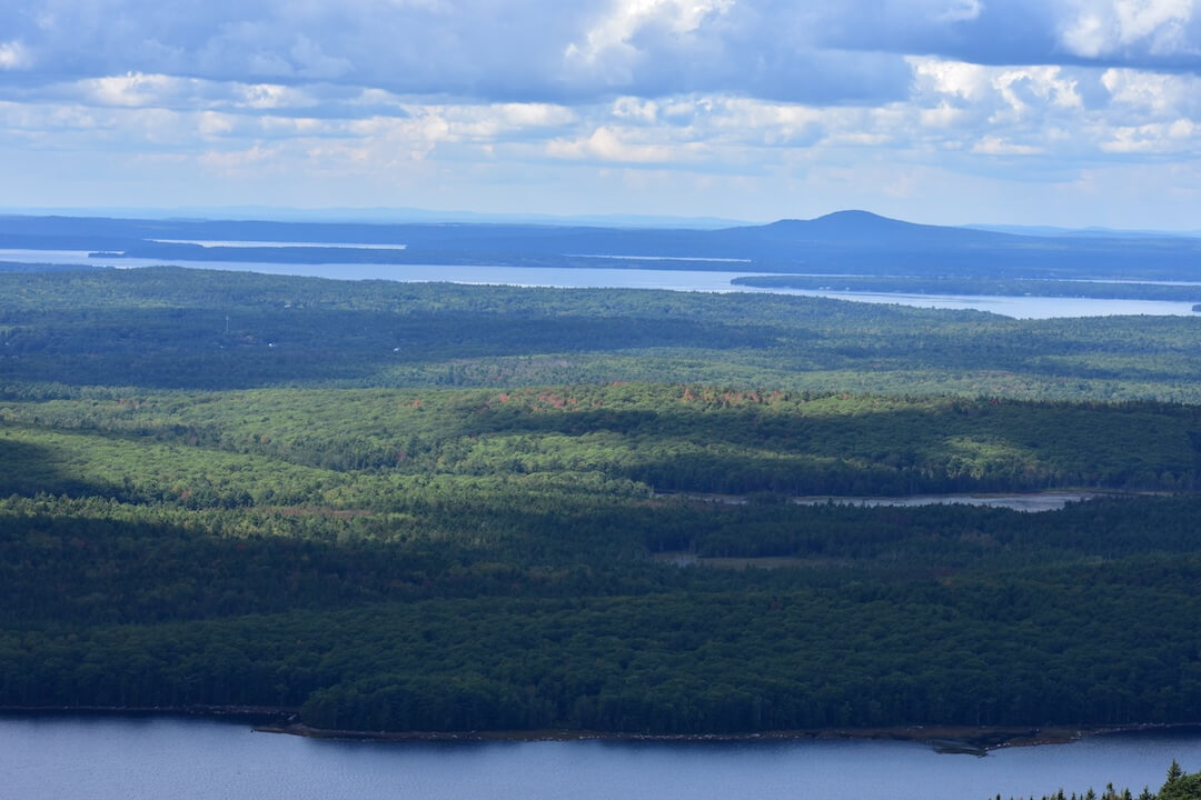 Mountains of Maine from Cadillac Mountain