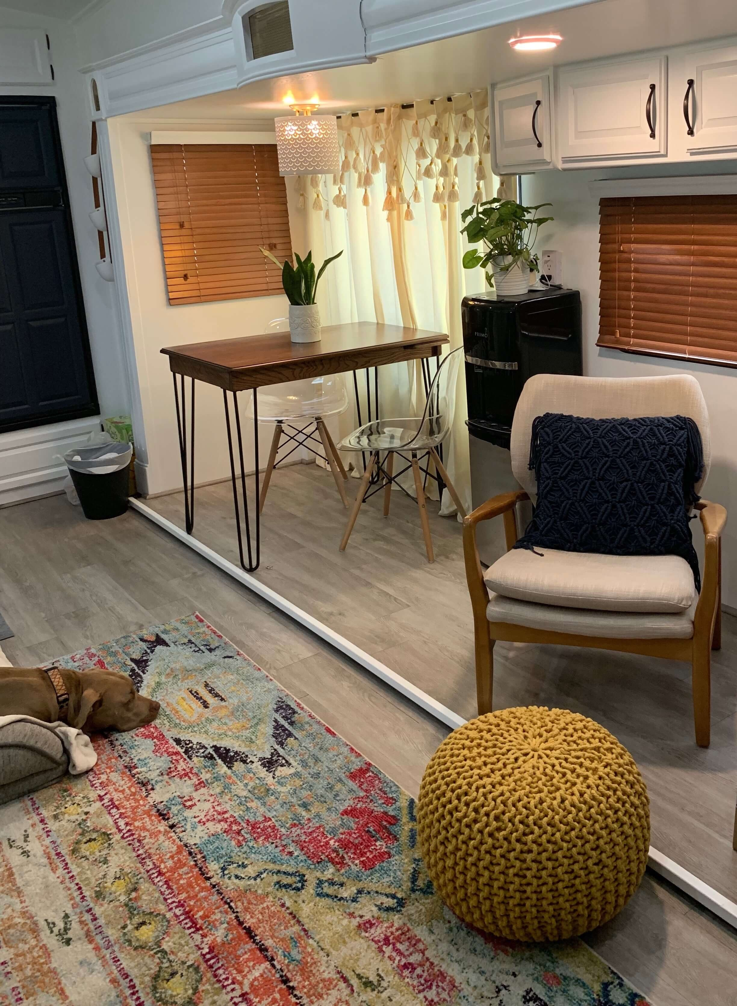 Renovated fifth wheel rv Office