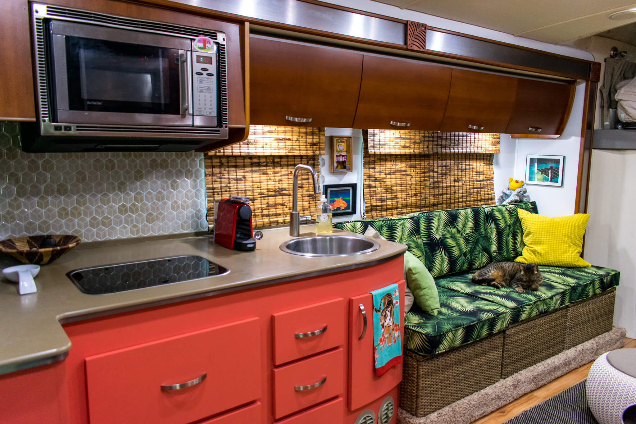 RV renovation tropical theme