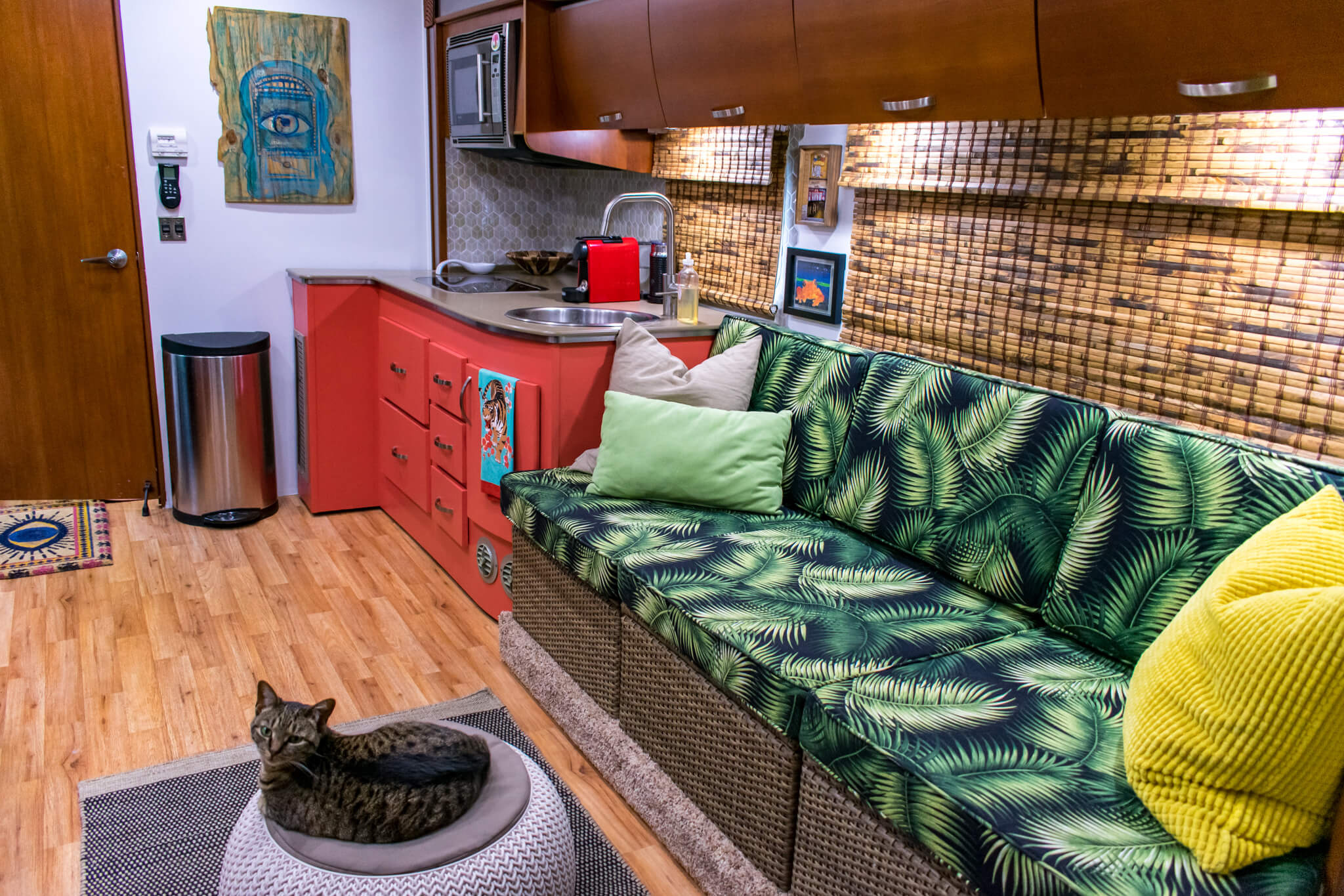 RV remodel tropical theme
