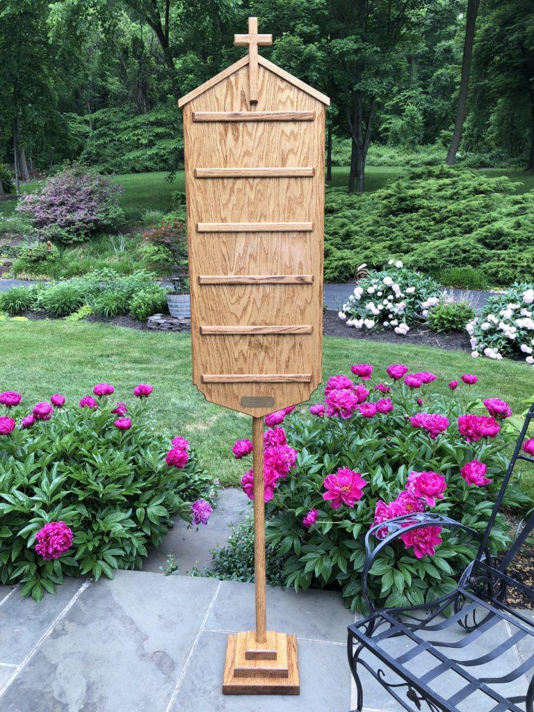 Solid Oak Hymn Board