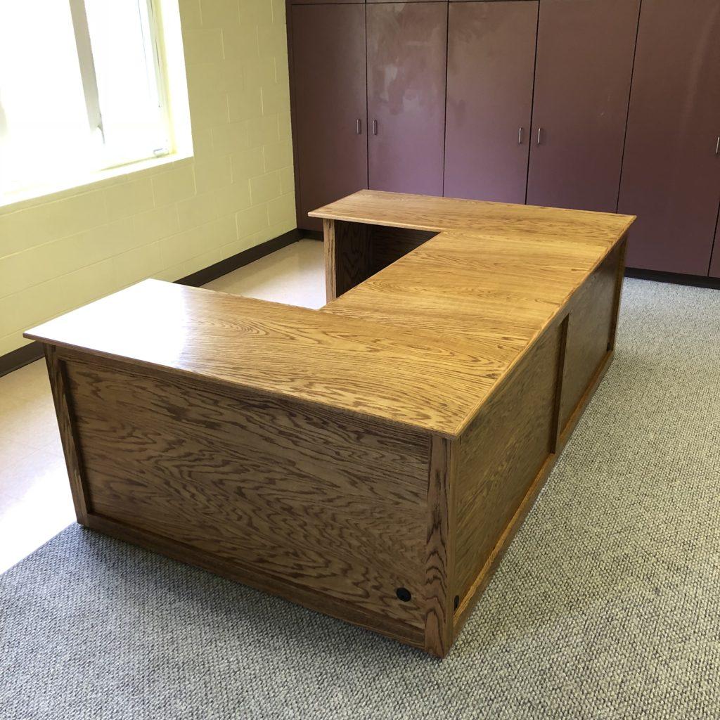 Oak U-Shape Office Desk
