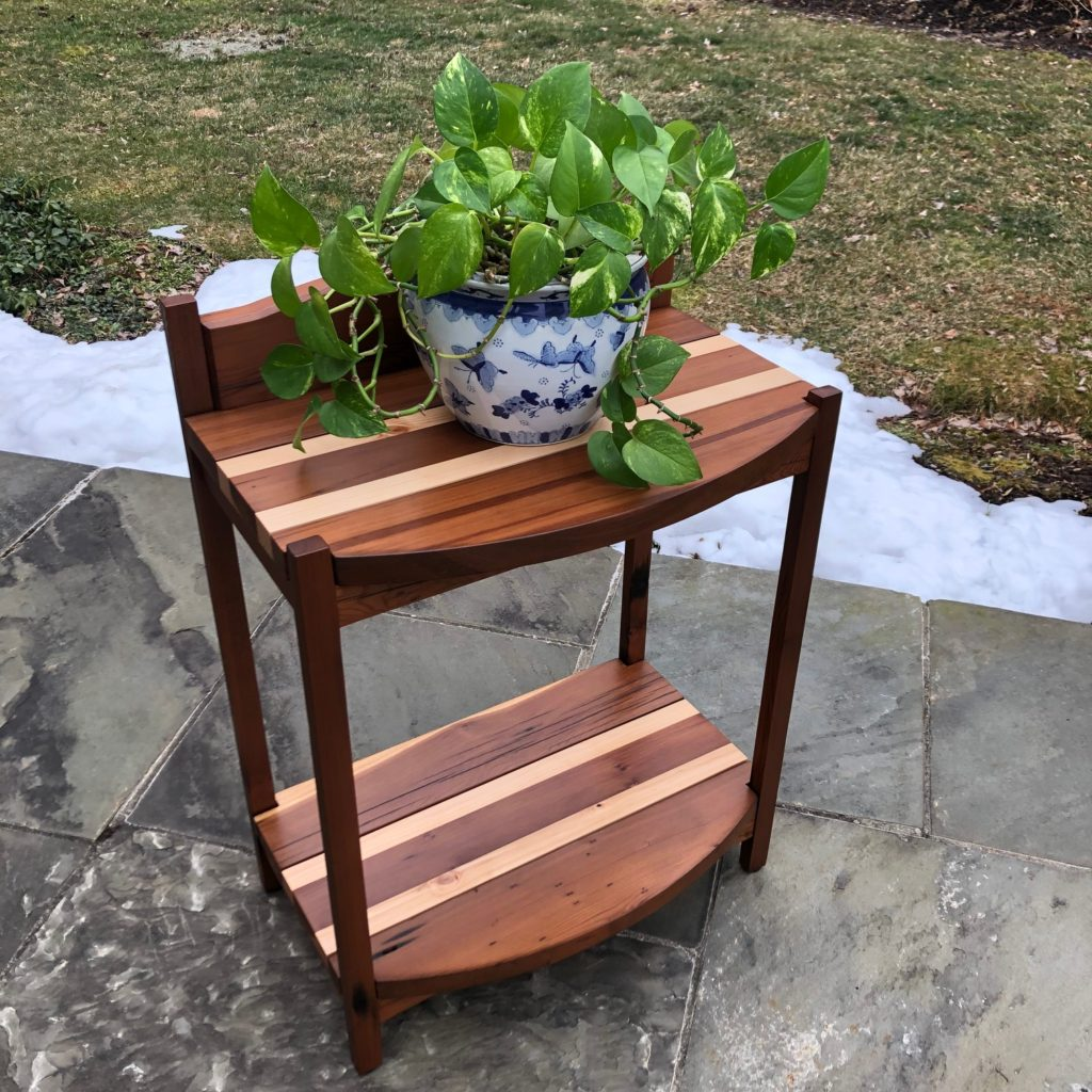 Custom Redwood Plant Stand