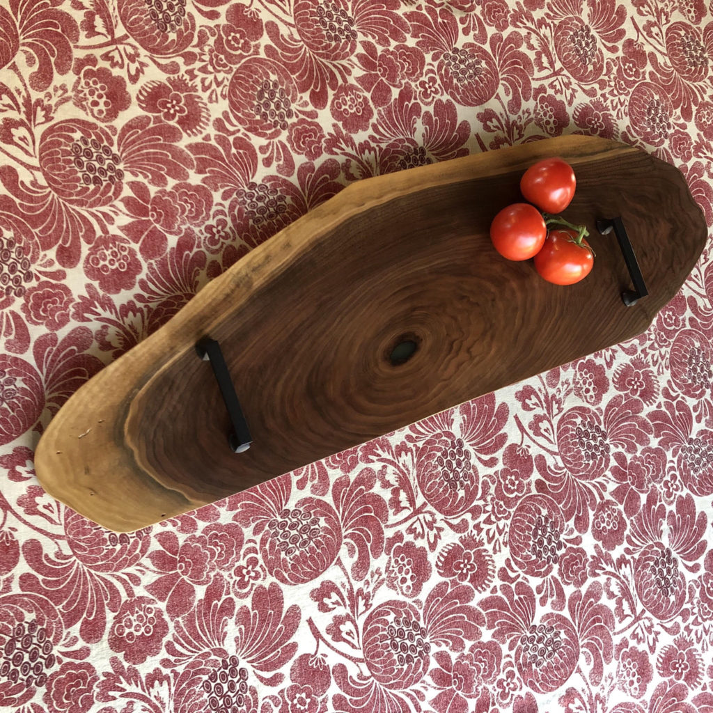 Black wanut charcuterie board