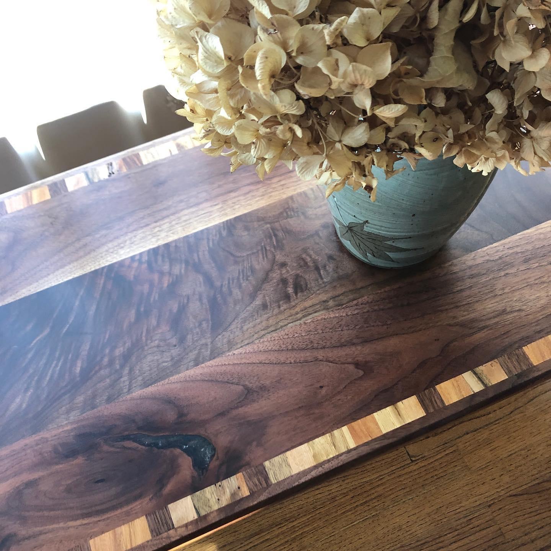 Revival Designs Custom Black Walnut Accent Table