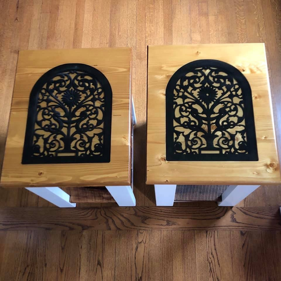 Revival Designs custom end tables
