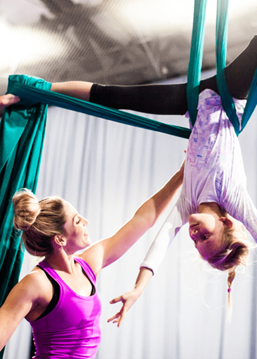 Orlando Aerial Arts Children silks class