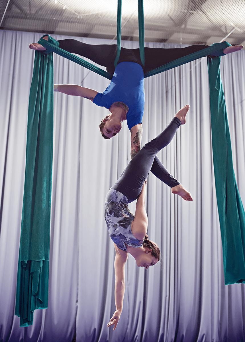 Orlando Aerial Arts duel silks