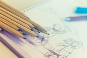 Pencils and drawing