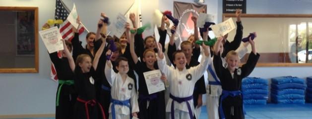 Taekwondo color belt promotion 10202013