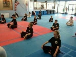Angel's Karate Students Pledge Allegiance