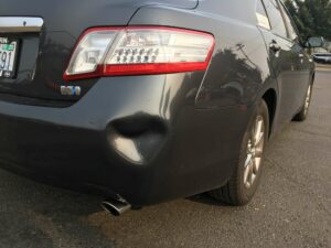 Toyota Camry Bumper Dent