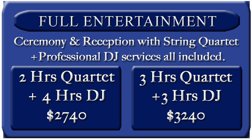 Full entertaniment pricing
