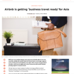 Travel Wire Asia AirBnB for Business Shermian Lim